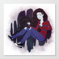 marceline Canvas Prints featuring Marceline by ribkaDory