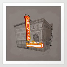 The Chicago Theater Art Print