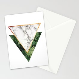 Geometric Tropical Marble Stationery Cards
