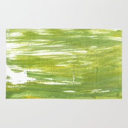 Moss green abstract watercolor Rug