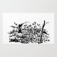 sketch Area & Throw Rugs featuring sketch by geoffroy dussart