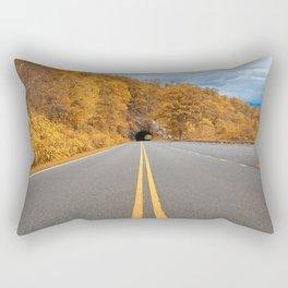 Shenandoah Skyline Drive - Autumn Gold Rectangular Pillow