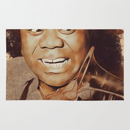 Louis Armstrong, Music Legend Rug