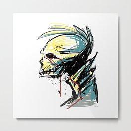 Bleeding Punk Skull Metal Print