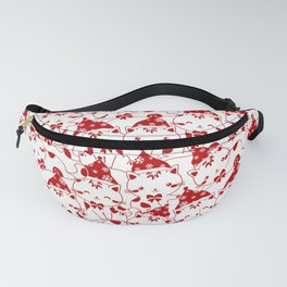 Winter Cats in Hats Fanny Pack