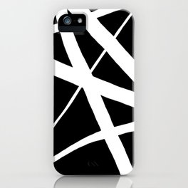 Geometric Line Abstract - Black White iPhone Case