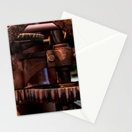 Gears of The Old Rusty Ship Crane Stationery Cards