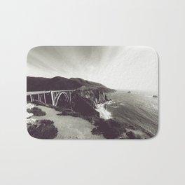 Bixby Bridge Black & White (Big Sur) Bath Mat
