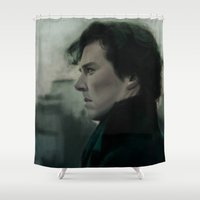 221b Shower Curtains featuring 221B Baker St by ChrisHdzArt