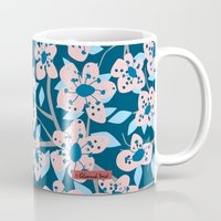 cherry blossom Mugs featuring Cherry Blossom by Alannah Brid