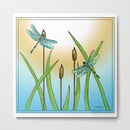 Dragonflies Fly Metal Print