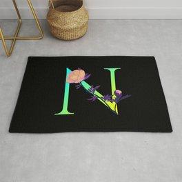 Letter N neon Rug
