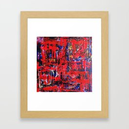 welcome you into me live Red & Blue Framed Art Print