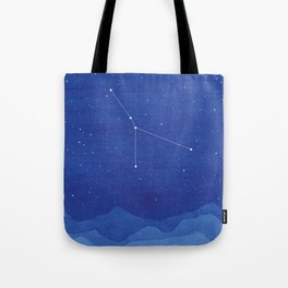 Cancer constellation, mountains Tote Bag