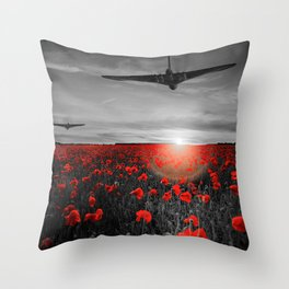 Poppy Vulcan's Isolated Throw Pillow