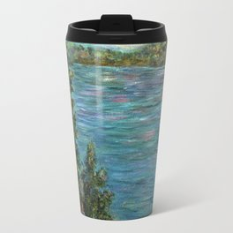Gone Fishing, Impressionism Landscape Art Travel Mug
