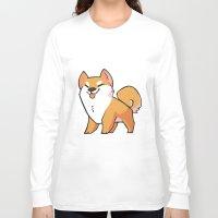 shiba inu Long Sleeve T-shirts featuring Shiba Inu by ParaPara