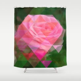 Pink Roses in Anzures 2 Art Triangles 1 Shower Curtain