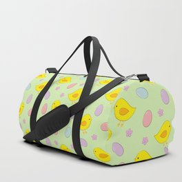 Easter pattern on green Duffle Bag