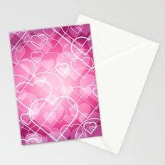 Hard line Heart Bokeh Stationery Cards