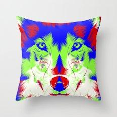 WOLF RGB Throw Pillow