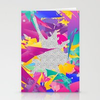 80s Stationery Cards featuring 80s Abstract by Danny Ivan