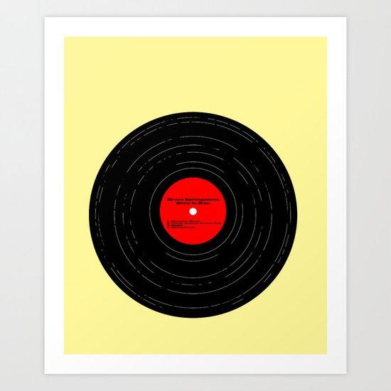 Born to Run Vinyl Art Print