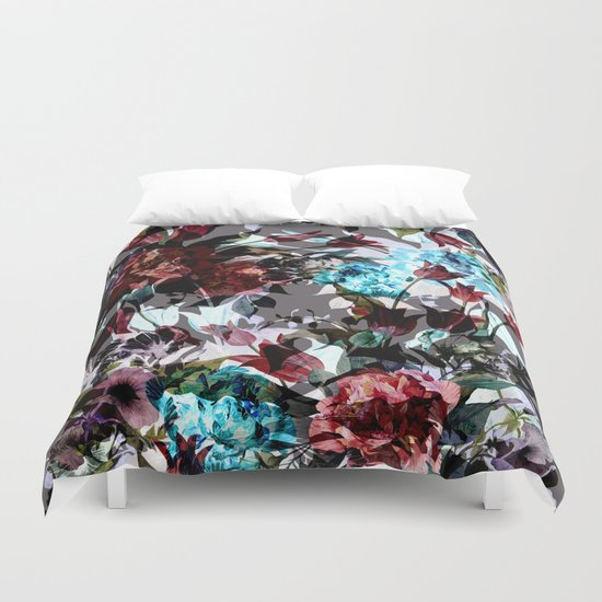 Seamless Absract Flower Pattern Duvet Cover