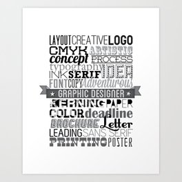 Graphic Designer Art Print