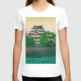 Kawase Hasui Vintage Japanese Woodblock Print Nagoya Castle T-shirt