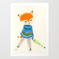 A Little Fox Art Print
