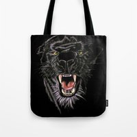 panther Tote Bags featuring Panther by Tish