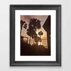 Palm Tree Silhouettes  Framed Art Print
