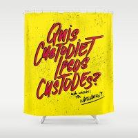 watchmen Shower Curtains featuring Watchmen by Chelsea Herrick