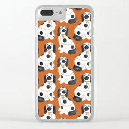 Staffordshire Dog Figurines No. 2 in Terracotta Clear iPhone Case