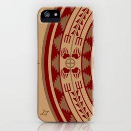 Bear Spirit (Maroon) iPhone Case