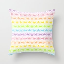 Pixel Invaders Throw Pillow