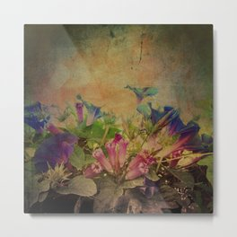 Flowers have music for those who will listen Metal Print