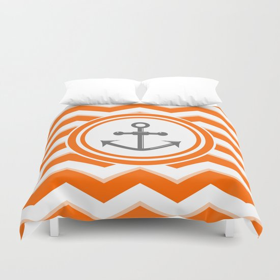 Chevron Anchor Duvet Cover