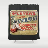 smoking Shower Curtains featuring Smoking by mentalembellisher