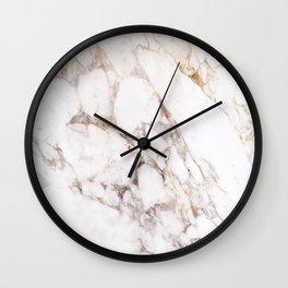 Onyx White Marble Wall Clock