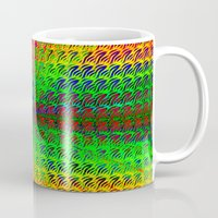 psychedelic Mugs featuring Psychedelic by Debbie Clayton