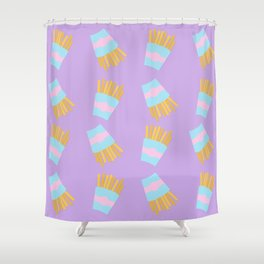 French Fry Pattern Shower Curtain