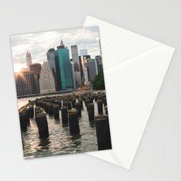 Sunset on Manhattan Stationery Cards