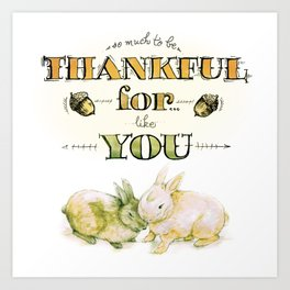 Thankful Buns Art Print