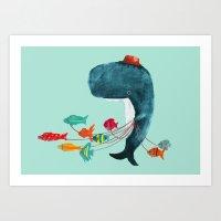 fish Art Prints featuring My Pet Fish by Picomodi