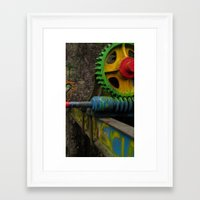 top gear Framed Art Prints featuring gear by giol's