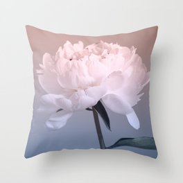Single peony (ombre) Throw Pillow