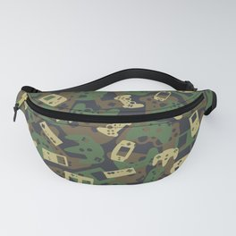 Gamer Camo WOODLAND Fanny Pack