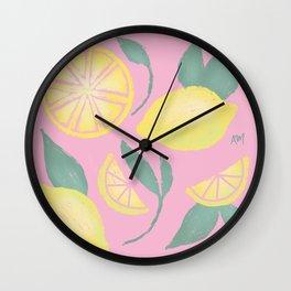 Sweet Summer Lemons Wall Clock